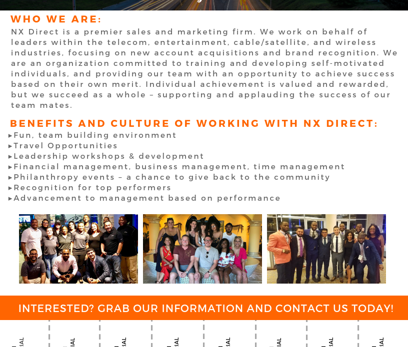 NX Direct - Job Flyer