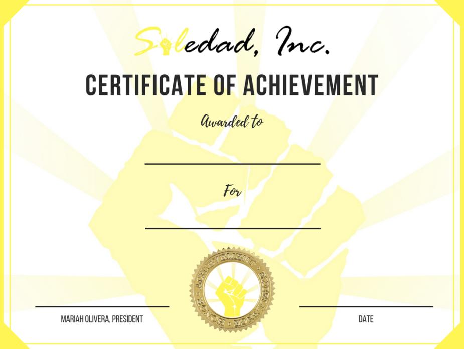 Soledad Inc-Certificate