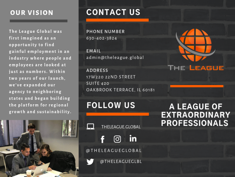 The League Global | Trifold
