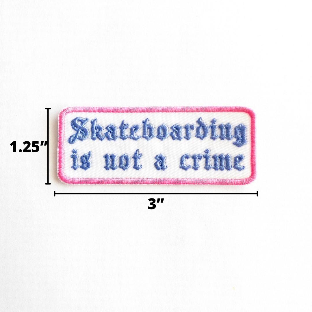 Embroidered Skateboarder Patch