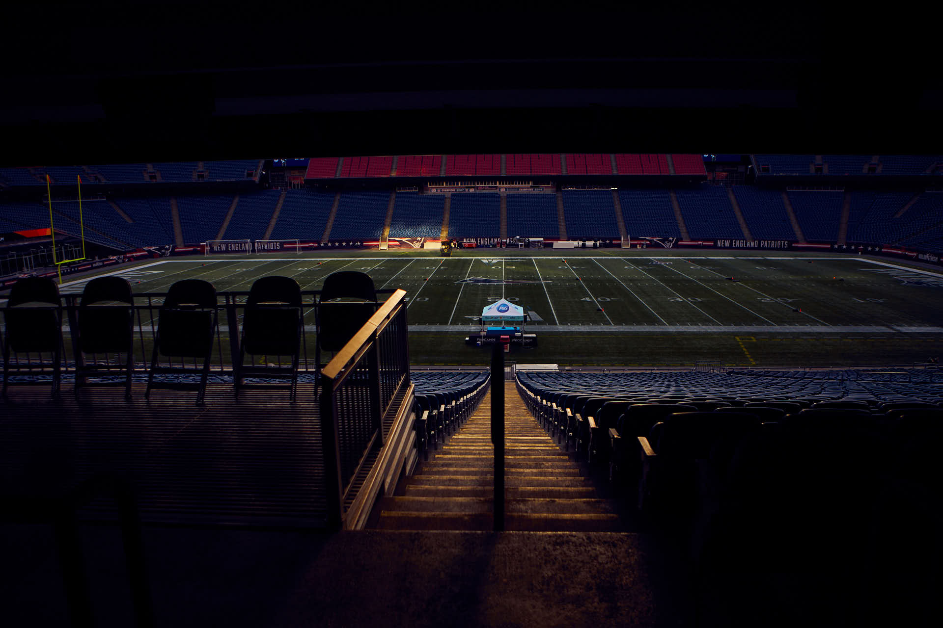 Editorial of Gillette Stadium by Boston based photographer Greg Caparell