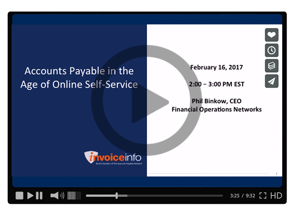 Accounts Payable in the Age of Online Self-Service