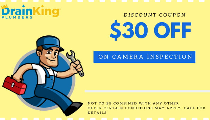 $30 OFF on Camera Inspection-Drain King Plumbers