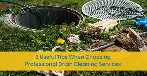 Tips for choosing professional drain cleaning services
