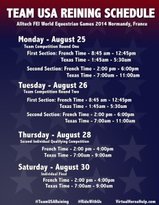 USA Normandy schedule