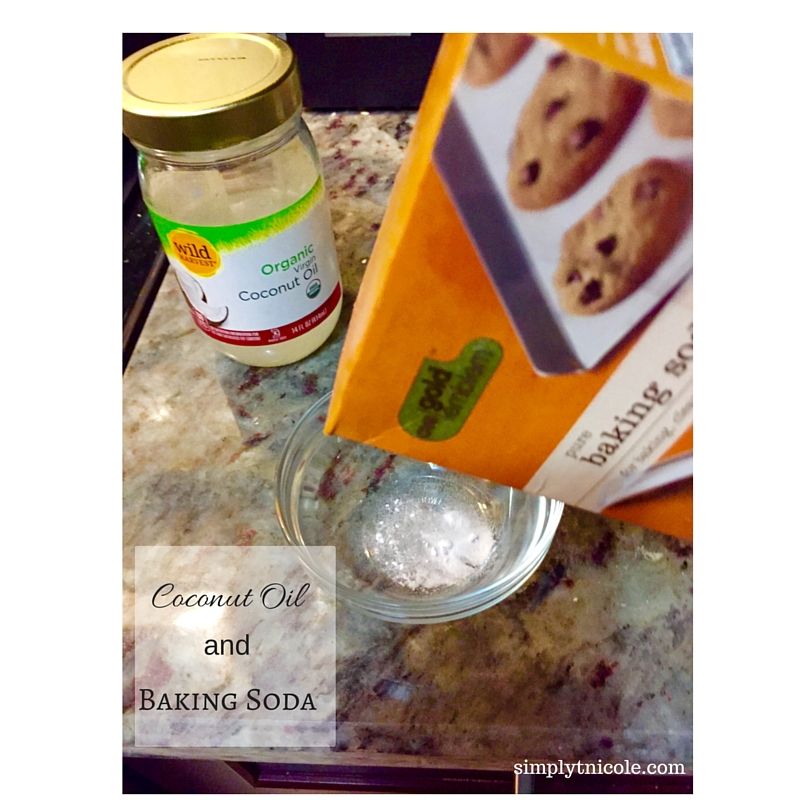 Exfoliator with Coconut Oil and Baking Soda