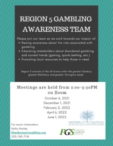 Region 5 Problem Gambling Awareness Team Meeting @ Zoom