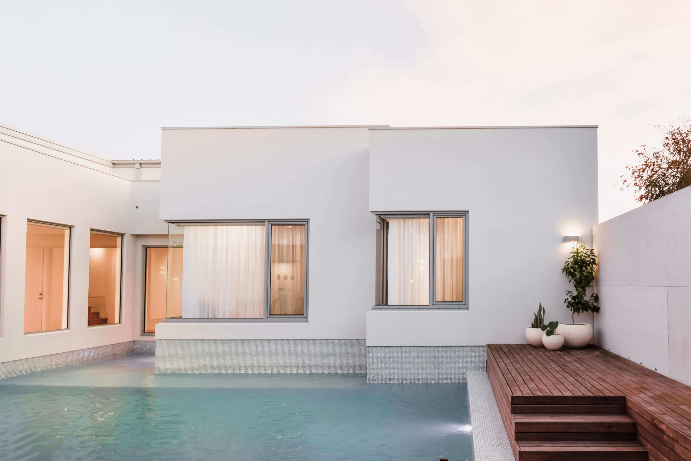 Home with wrap around pool