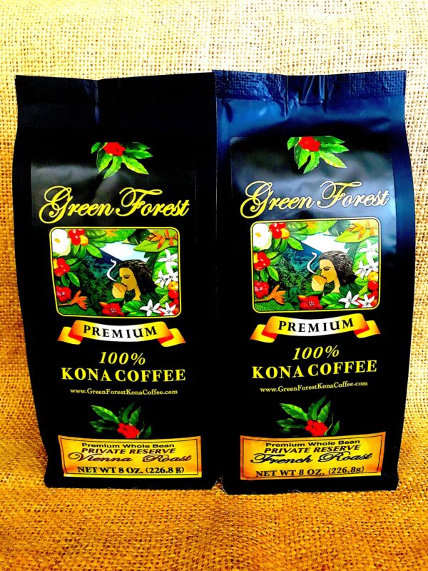 8 oz Private Reserve Green Forest Kona Coffee