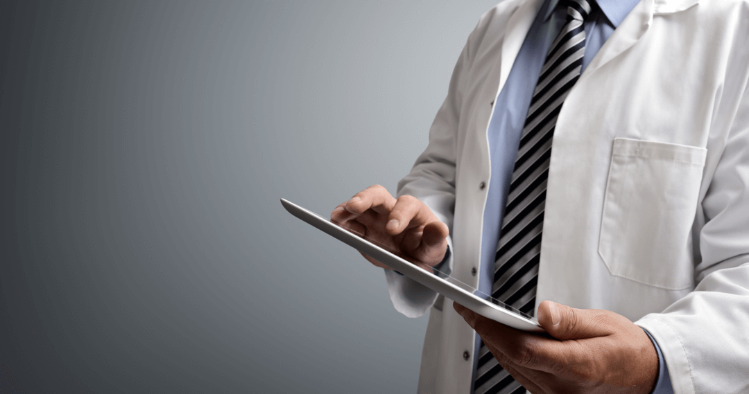 telemedicine nurse triage providers doctor white robe tablet tie software customization triage
