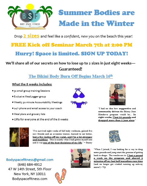 Space is limited! Sign up today for our FREE Kick-off Seminar