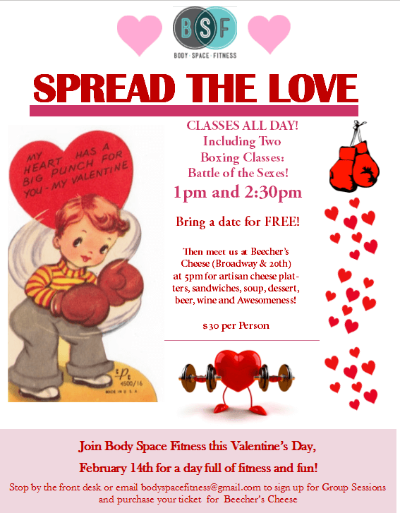 Join BSF on Valentine's Day for a day full of Fitness and Fun!