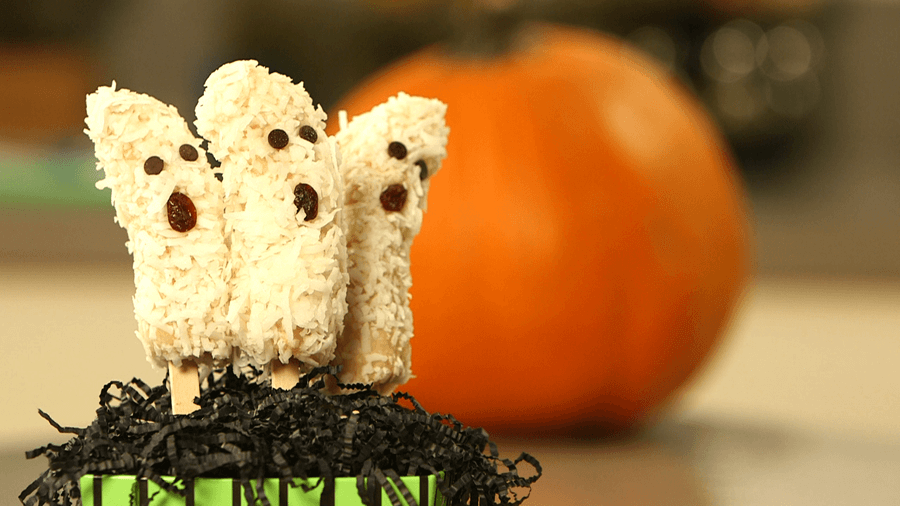 Scare Away Your Sugar Cravings with Banana Ghost Pops!