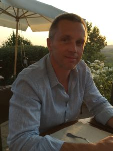 Josh relaxing in Tuscany