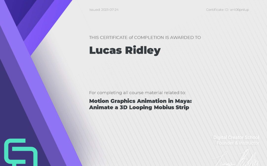 New Course Certificates of Completion