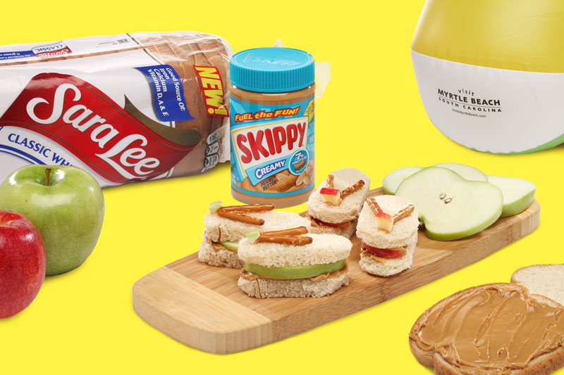 Beach Sandal Snacks with Sara Lee® Classic White Bread and Skippy® Creamy Peanut Butter