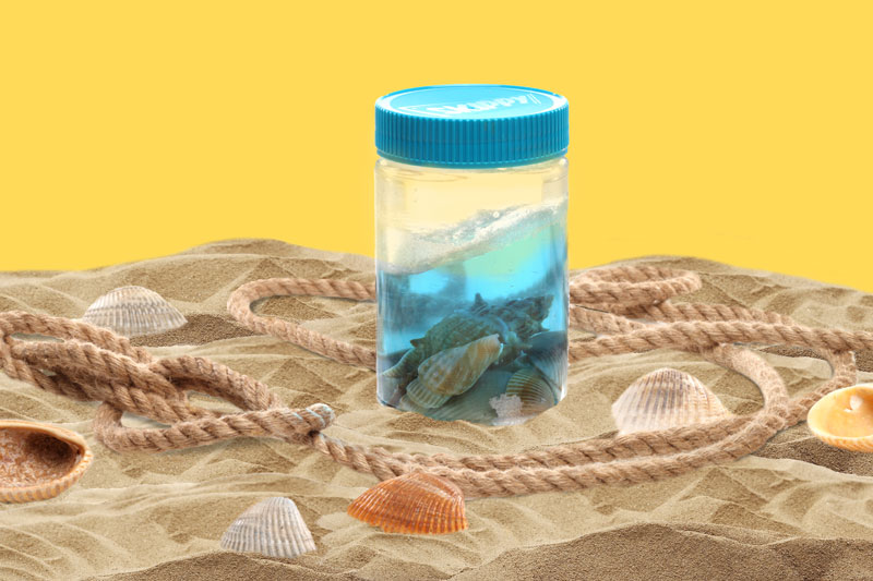 Repurpose Skippy® Peanut Butter Jar - Happiness Comes in Waves