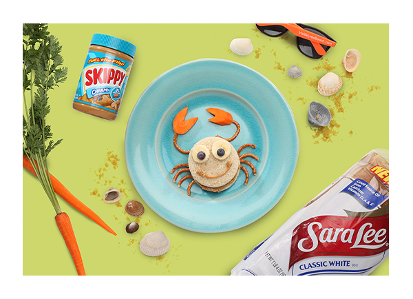 Fun in the Sun Crab Food Art Recipe