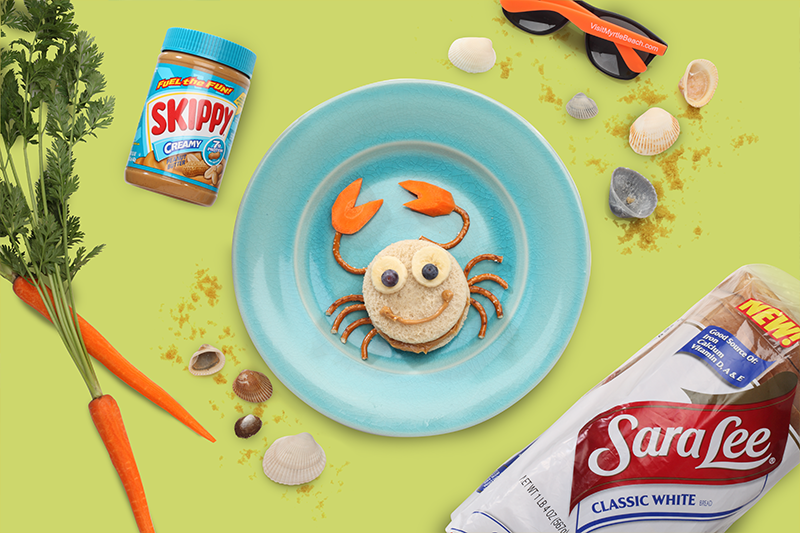 Summer of Fun Crab Food Art