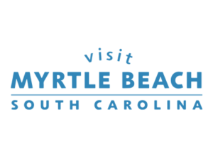 Visit Myrtle Beach South Carolina Blue Logo