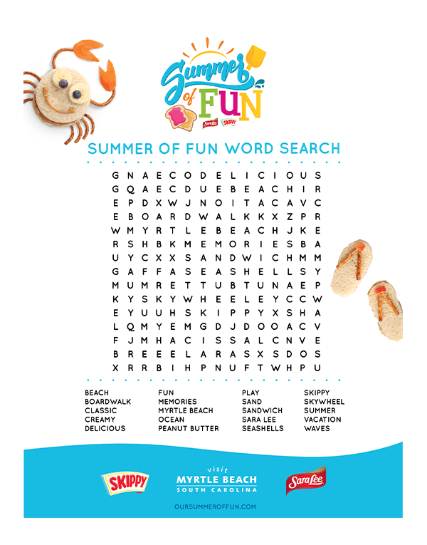 Summer of Fun Word Search