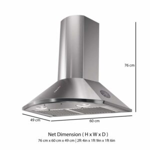 Faber HOOD TENDER 3D 60cm – Auto Clean Kitchen Chimney & Hood