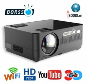 Borsso Mars 9.1 Full-HD Projector with 5500 Lumens