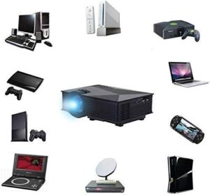 PLAY LED LCD HD Mini WiFi Projector for All-Purpose AV, USB, SD, VGA, HDMI