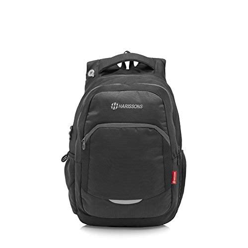 Harissons Polyester 33 Ltr Black Laptop Backpack