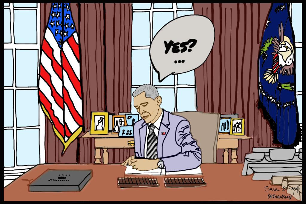 Slide 2 - Obama at his desk signed signed