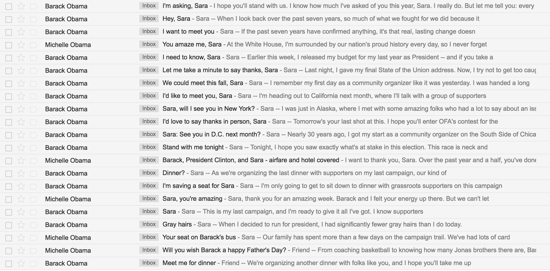 Inbox Screen Shot