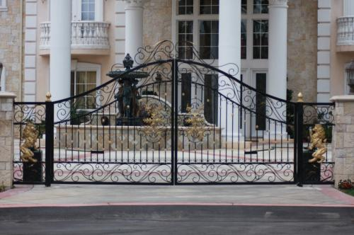 Driveway gates Iron Gates with Electric motor
