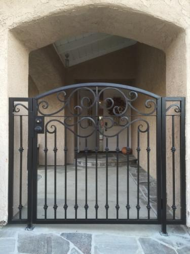 Wrought Iron Pedestrian Gates1