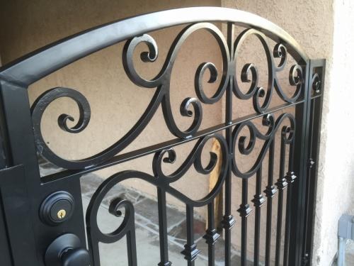 Wrought Iron Pedestrian Gates2