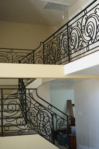 schuvega ironworks staircase railing wrought Iron ornamentle 7