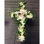 Just Priceless Floral Sympathy Cross