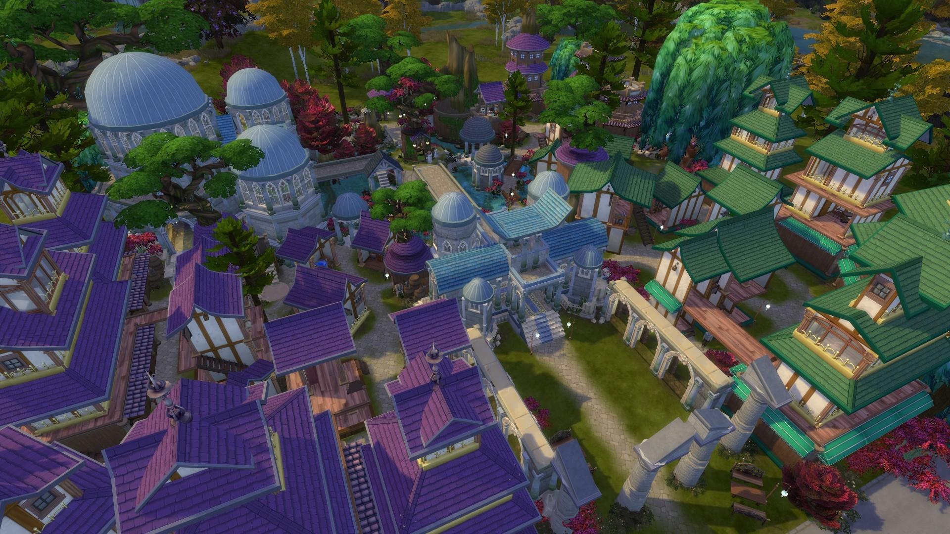 SatiSim has restored Darnassus in The Sims 4
