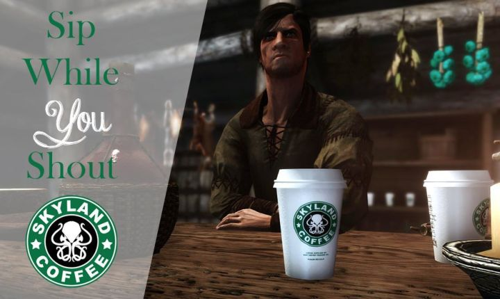 Game of Thrones Coffee Cup finds itself in Skyrim