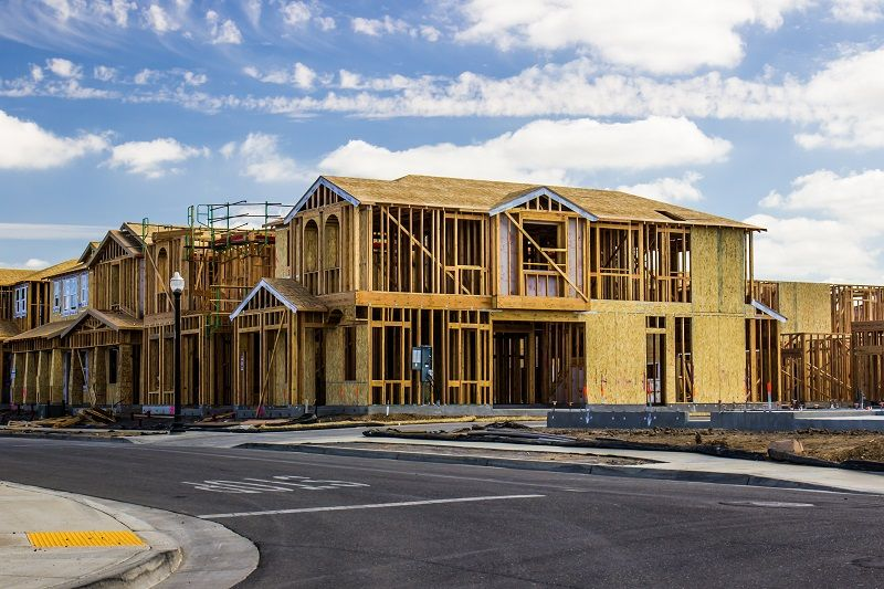 Two story homes under construction