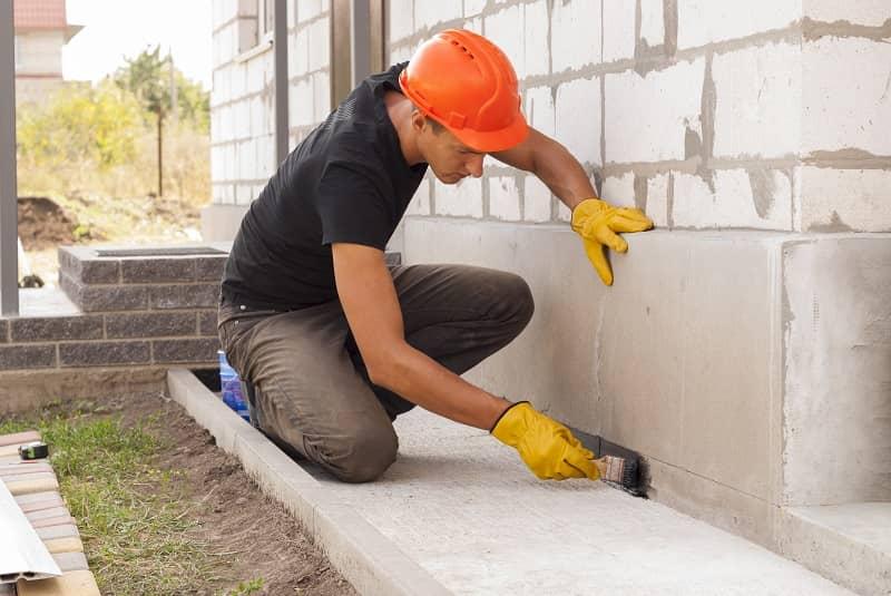 bitumen waterproofing of the foundation-cm