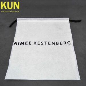 White Drawstring Nonwoven Bags
