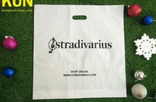 White Die Cut Plastic Bags