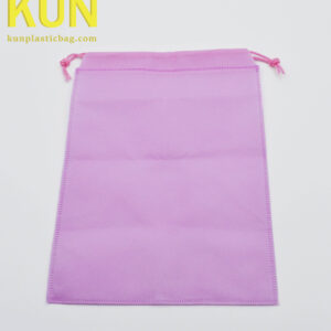 Pink Drawstring Nonwoven Bags