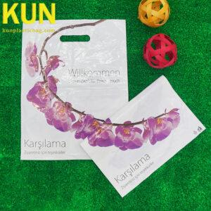 Custom Die Cut Plastic Handle Bag