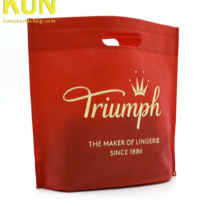 Red Die Cut Nonwoven Bags