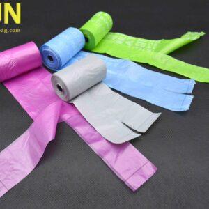 HDPE T-Shirt Plastic Bag On Roll