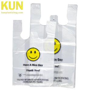 Smile Plastic T-shirt Bags