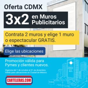 promo 3x2 en muros publicitarios