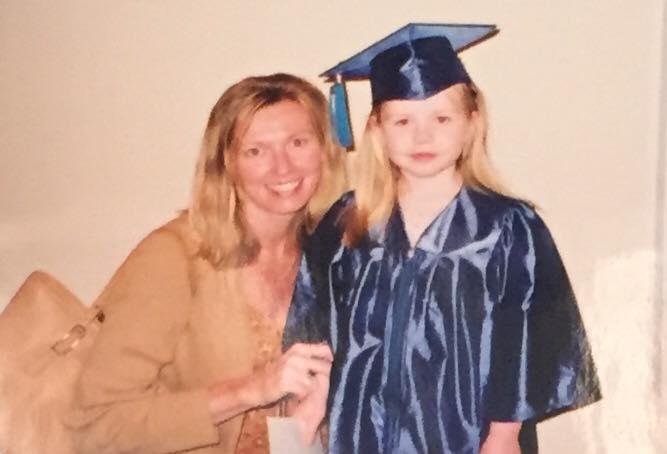me at my preschool graduation with my mom