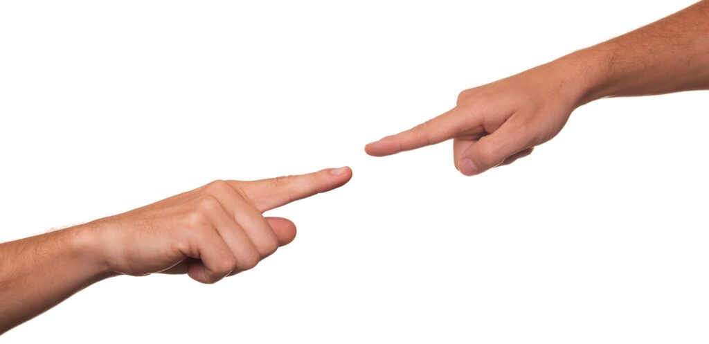 twos fingers pointing at each other